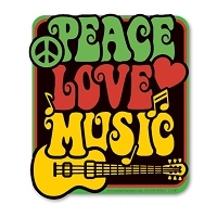 CS247 - Love Peace Music Color Sticker