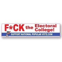 CS268 - F-CK the Electoral College Color Sticker