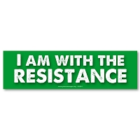 CS281 - I am with the Resistance Large Color Sticker