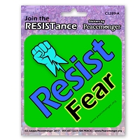CS289-A - Resist Fear - Join the Resistance Color Sticker