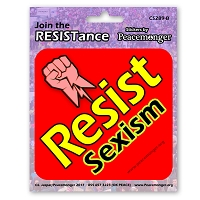 CS289-B - Resist Sexism- Join the Resistance Color Sticker