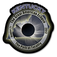 EC004 - Kentucky -  Great American Eclipse 2017 Sticker