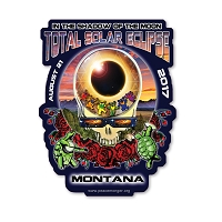 EC010 - Montana Eclipse Your Face Grateful Dead Total Solar Eclipse 2017 Sticker