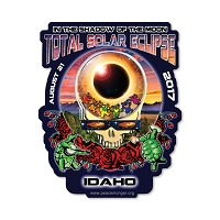 EC012 - Idaho Eclipse Your Face Grateful Dead Total Solar Eclipse 2017 Sticker