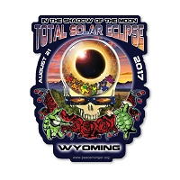 EC013 - Wyoming Eclipse Your Face Grateful Dead Total Solar Eclipse 2017 Sticker