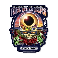 EC015 - Kansas Eclipse Your Face Grateful Dead Total Solar Eclipse 2017 Sticker