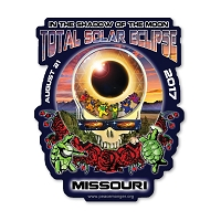 EC016 - Missouri Eclipse Your Face Grateful Dead Total Solar Eclipse 2017 Sticker