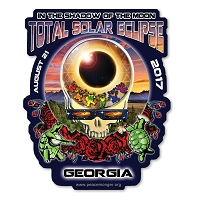 EC021 - Georgia Eclipse Your Face Grateful Dead Total Solar Eclipse 2017 Sticker