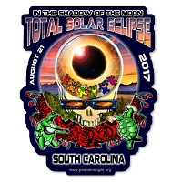 EC023 - South Carolina Eclipse Your Face Grateful Dead Total Solar Eclipse 2017 Sticker