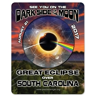 EC034 - South Carolina - Dark Side of the Moon Total Solar Eclipse 2017 Sticker