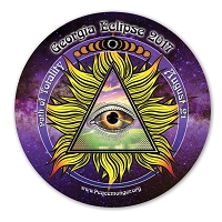 EC041 - Georgia All Seeing Eye Total Eclipse Souvenir Sticker