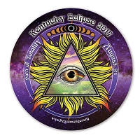 EC042 - Kentucky All Seeing Eye Total Eclipse Souvenir Sticker