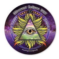 EC044 - Missouri All Seeing Eye Total Eclipse Souvenir Sticker