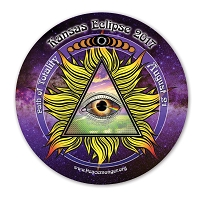 EC045 - Kansas All Seeing Eye Total Eclipse Souvenir Sticker