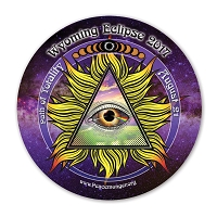 EC048 - Wyoming All Seeing Eye Total Eclipse Souvenir Sticker