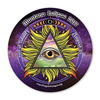 EC049 - Montana All Seeing Eye Total Eclipse Souvenir Sticker