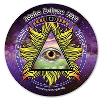 EC050 - Idaho All Seeing Eye Total Eclipse Souvenir Sticker