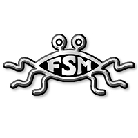 F03 - Flying Spaghetti Monster 3D Chrome Auto or Truck Emblem