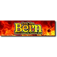 MS155-N - Feel The Bern Color Mini Sticker