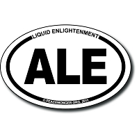 OM002 - Liquid Enlightenment Mini Oval Bumper Sticker