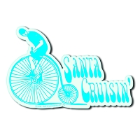 SC006 - Santa Cruzin' Die Cut Sticker
