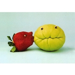 VW10 - Play With Your Food Kissing Frog Postcard