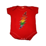 I13RD1Z - Grateful Dead Rainbow Lightning Bolt Infant Onesie