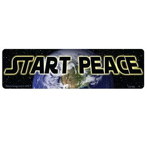 CS198 - Start Peace - Star Wars Quote Parody Color Sticker