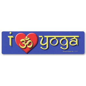 CS215 - I Love Yoga - Om Heart Color Sticker