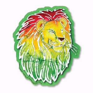 CS237 - Rasta Lion Batik Color Sticker