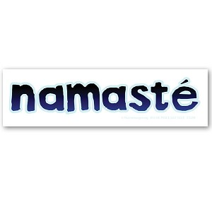 CS250 - Namaste Script on White Vinyl Color Sticker