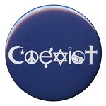 B010 - Coexist SymbolGlyphs Peacemonger Original Design Button