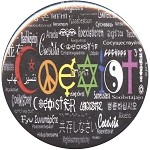 B028 - Rainbow Coexist in 55 Languages Button