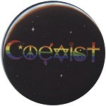 B119 - Rainbow Coexist pin back button