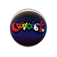 B462 - Happy Coexist Interfaith Button