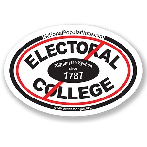 CS269 - Electoral College Rigging the System since 1787 Oval Color Sticker
