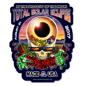 EC024 - Made in the USA Eclipse Your Face Grateful Dead Total Solar Eclipse 2017 Sticker