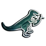 F10 - T-Rex Eats Fish Car Emblem