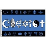 FLG001 - Coexist in Symbols Poly Flag