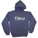 HS005 - Believe In Peace Symbolglyph Men's / Unisex Hoodie Sweatshirt