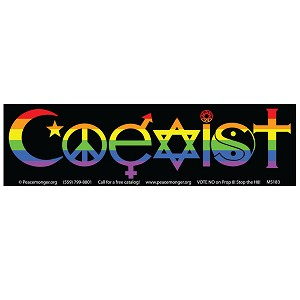 CM001 - Rainbow Coexist Full Color Mini Sticker