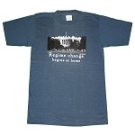 Regime change begins at home T-shirt (small)