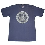 T049 - Celtic Moon Pentagram Organic Hemp T-Shirt
