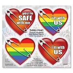 CS262 - Safety Pin Hearts Protest Mini Sticker Pack 2