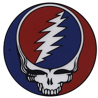 A068S - Grateful Dead Steal Your Face Inside Window Decal - 1.5 inch
