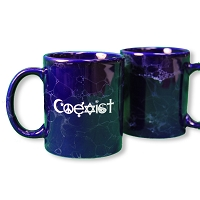 MG01 - Coexist Interfaith Symbols Marbled Blue 11 Ounce Coffee Mug