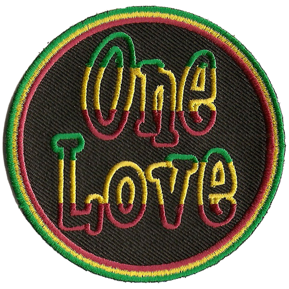 One love symbols rasta full color mini sticker p219 rasta one love patch biocorpaavc Image collections