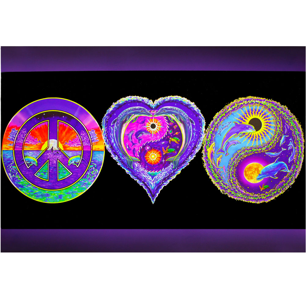 Peace love and happiness poster blacklights biocorpaavc Image collections