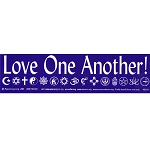 S010 - Love One Another Large Bumper Sticker
