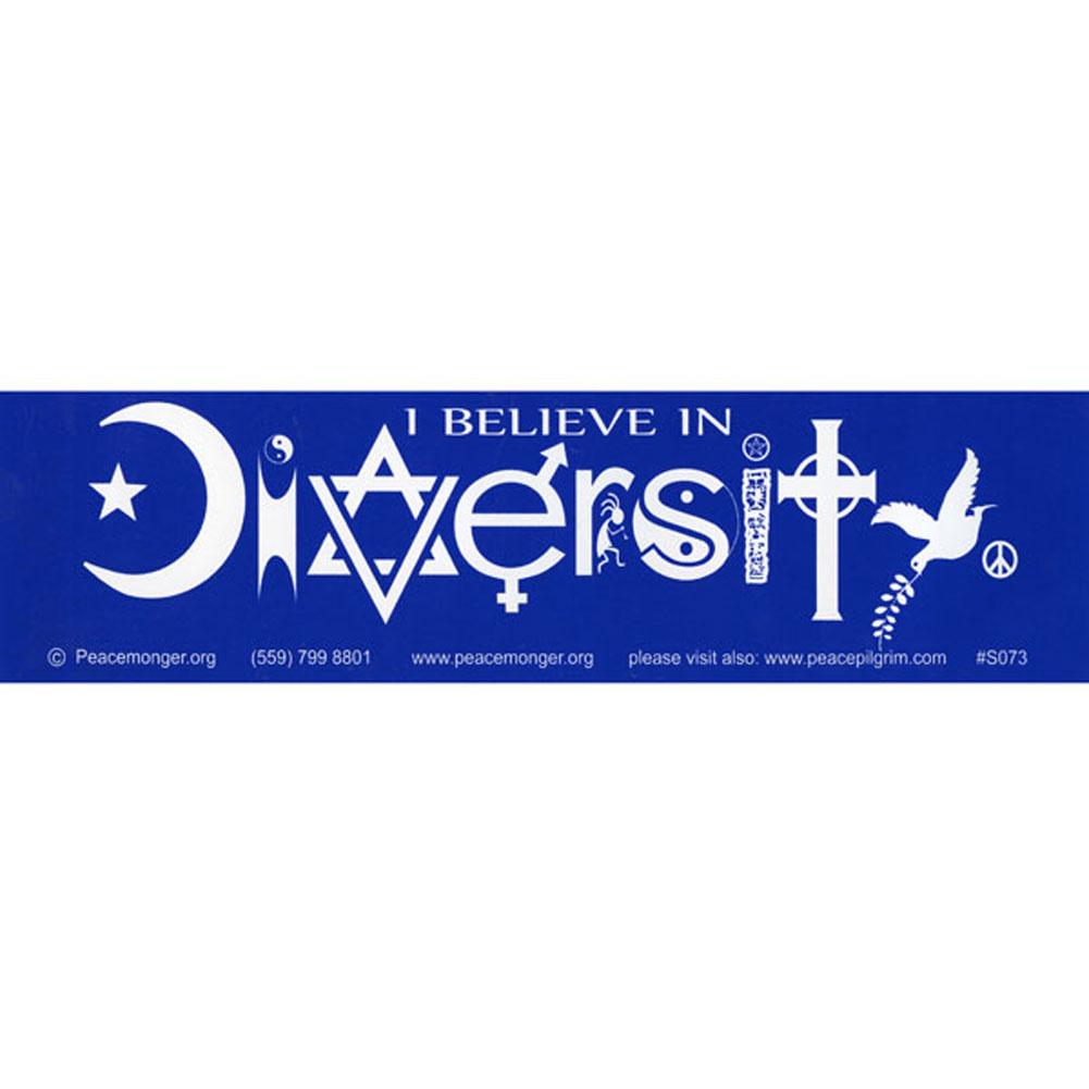 S073 i believe in diversity bumper sticker biocorpaavc